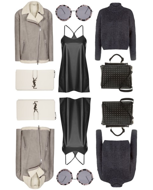 lust list, autumn winter, reiss, ysl wallet, steve madden handabg, topshop motel slip, sunglasses, knitwear