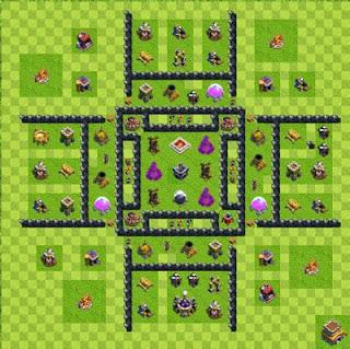 Kumpulan Base Town Hall 8 Farming Terbaru