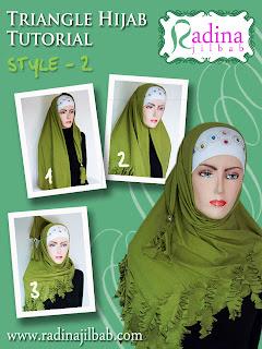 Cara Memakai Jilbab Segitiga by Radina 2