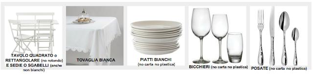 Cena in bianco unconventional dinner istruzioni per i - Tovaglia tavolo quadrato ...