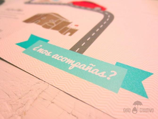 invitación JyR poster vinilo Gota Creativa