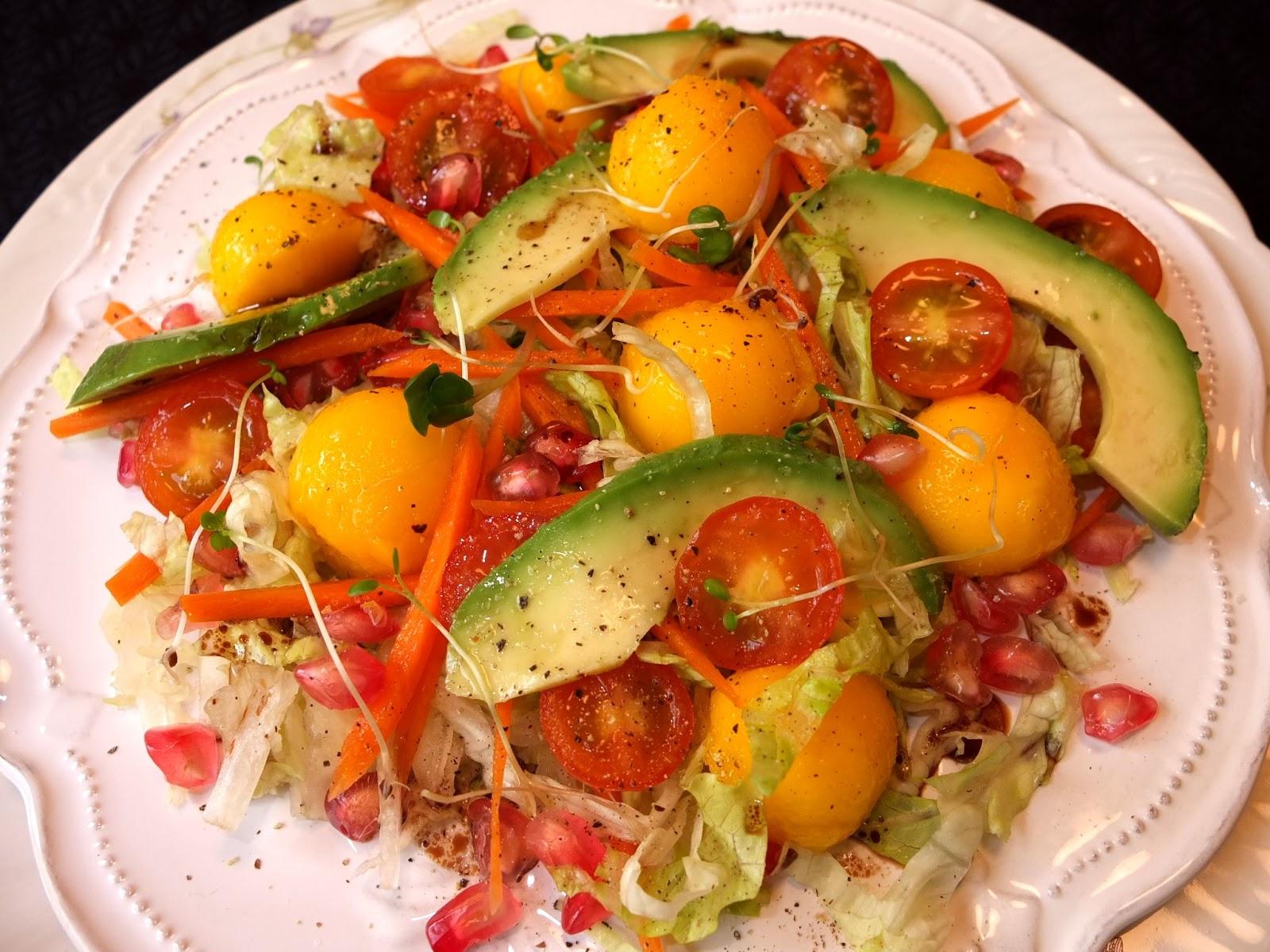 Cocinando con lola garc a ensalada de mango ensalada de for Cocinar con mango