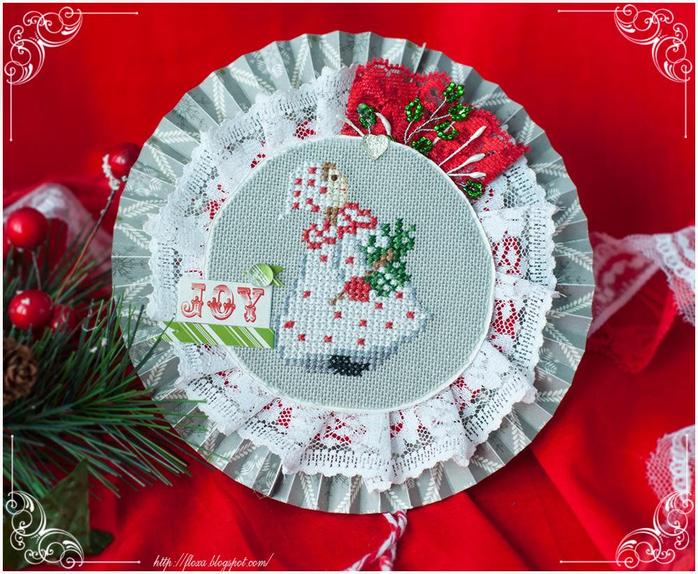 Acufactum Advent im Winterwald вышивка, вышивка Acufactum зима, новогодняя подвеска с вышивкой, елочная игрушка с вышивкой