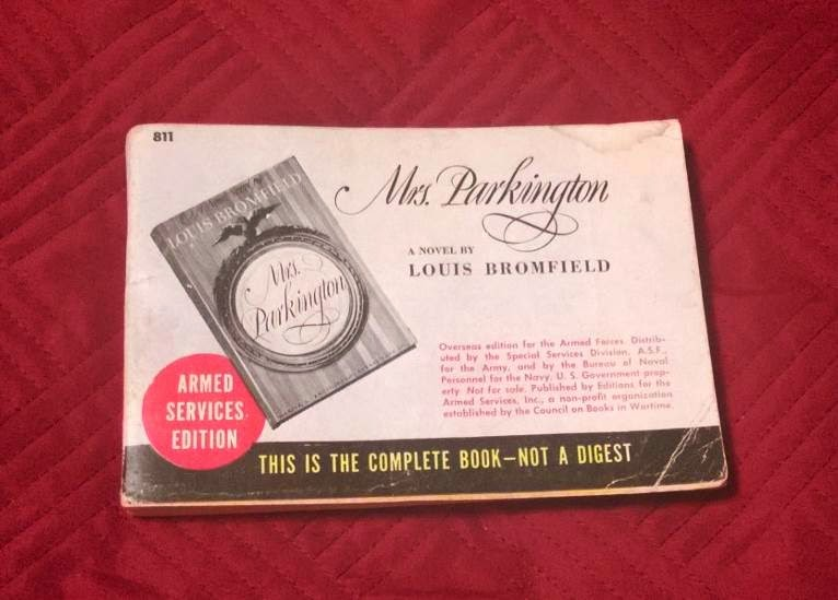 Mrs. Parkington Armed Services Edition of Book