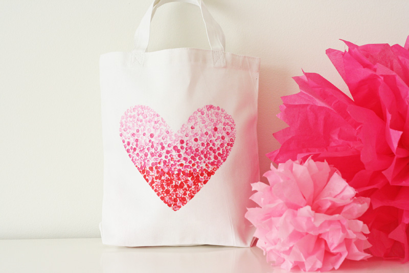 v and co v and co how to painted heart bag