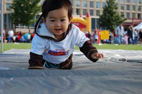 赤ちゃんマラソン大会