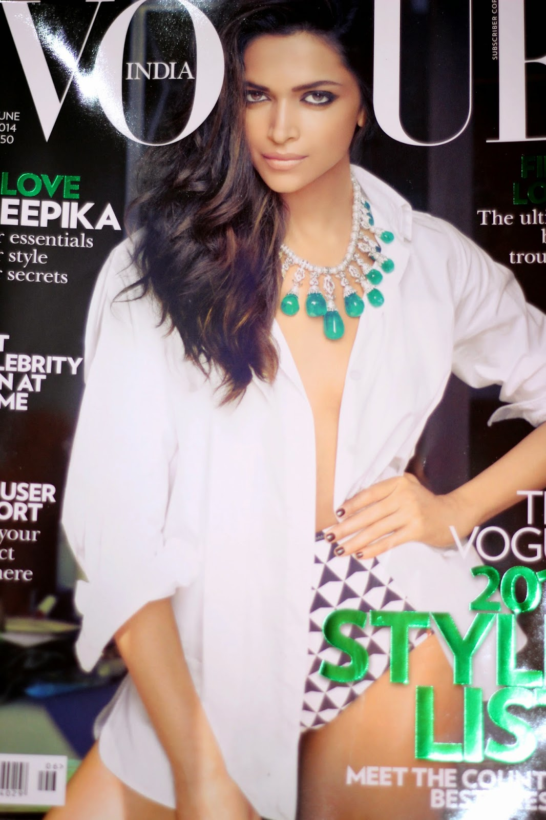 Deepika Padukone, Instagram, VOGUE India And June 2014 Cover Page