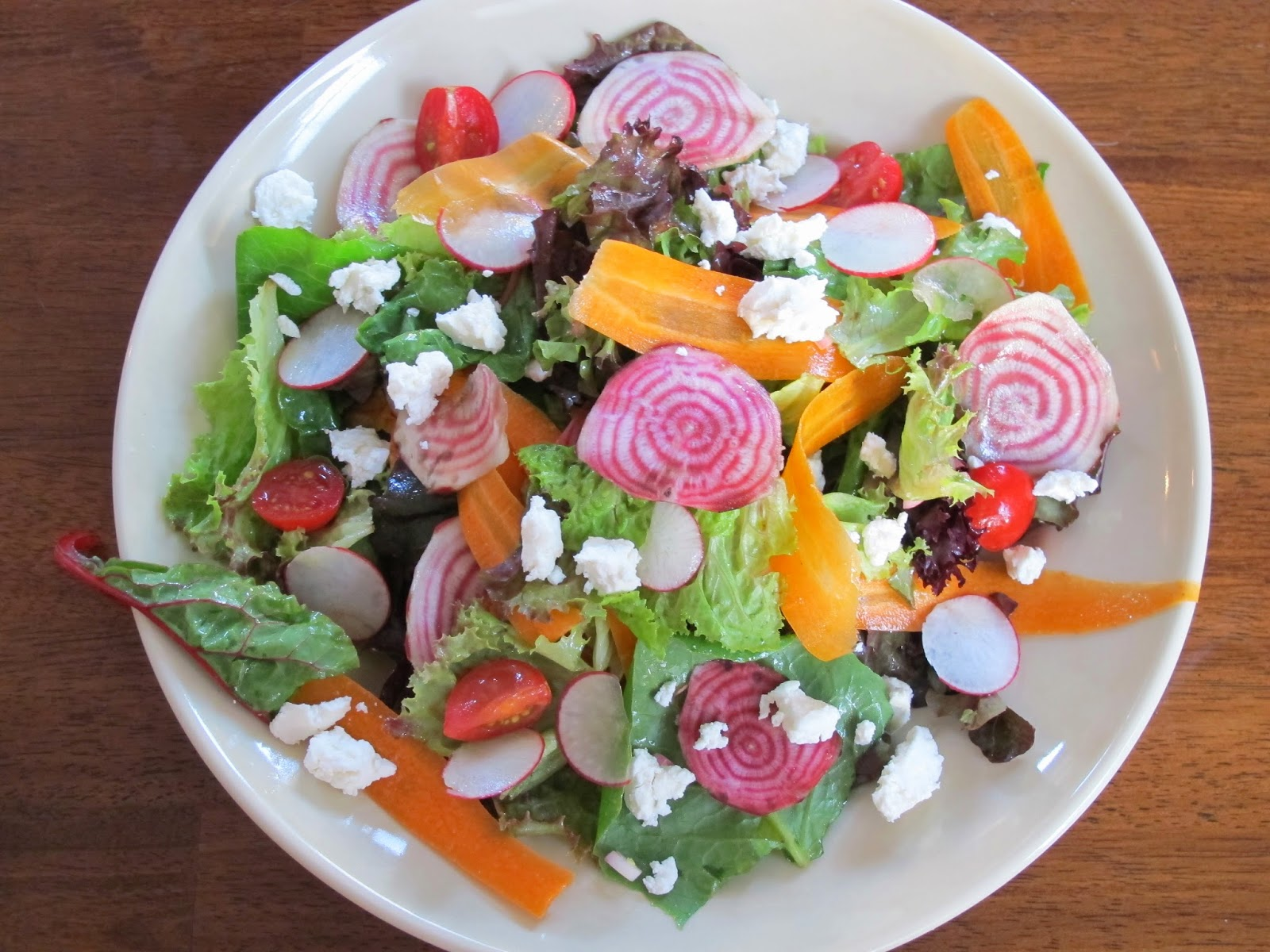 Shaved Raw Vegetable Salad