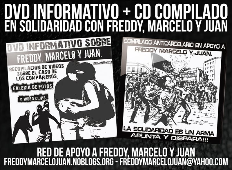 DVD+CD en solidaridad con Freddy, Marcelo y Juan