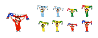 Copa América 2015 Facebook Stickers
