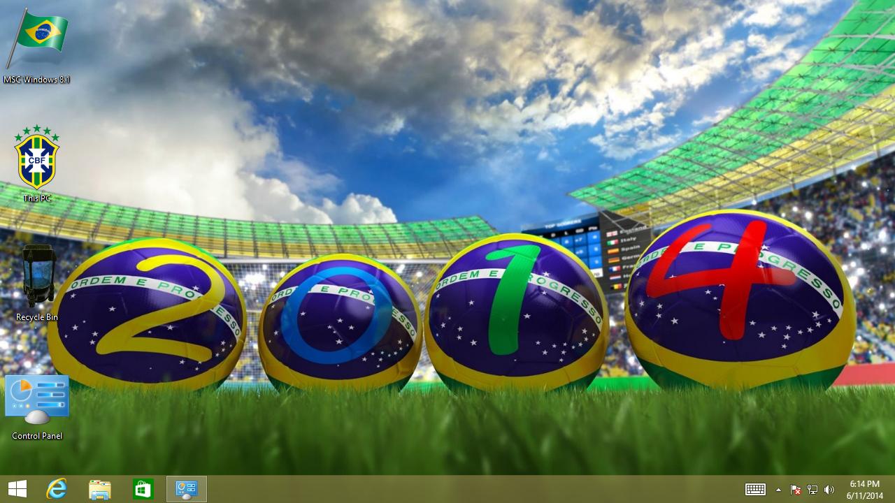 Descarga brasil copa del mundo tema para Android y Windows