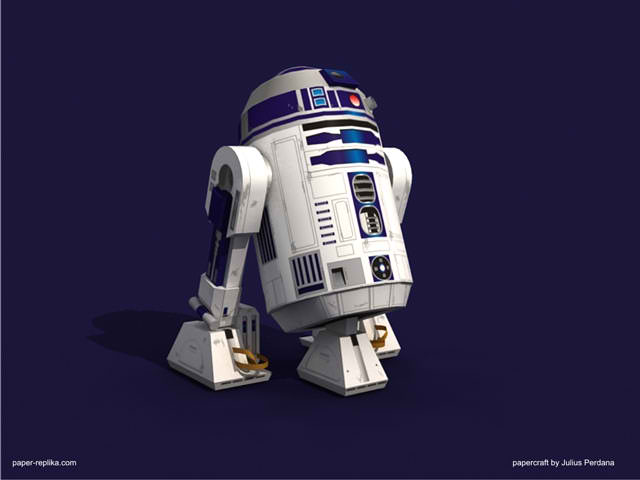 star wars r2 d2 papercraft papercraft paradise papercrafts paper models card models. Black Bedroom Furniture Sets. Home Design Ideas
