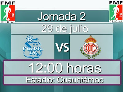 Ver Puebla vs Toluca En Vivo, Domingo 29 de Julio 2012