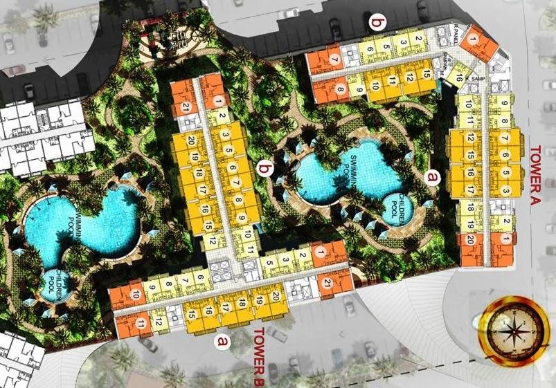 Blok  Plan Tower A & Tower B, Apartemen Puri Orchard