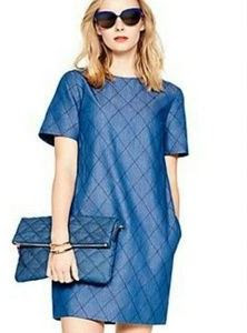 Kate Spade New York Quilted Chambray Shift Dress on sale