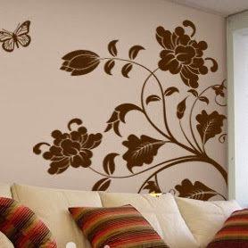 vẽ tranh tường phòng khách-phòng ngủ