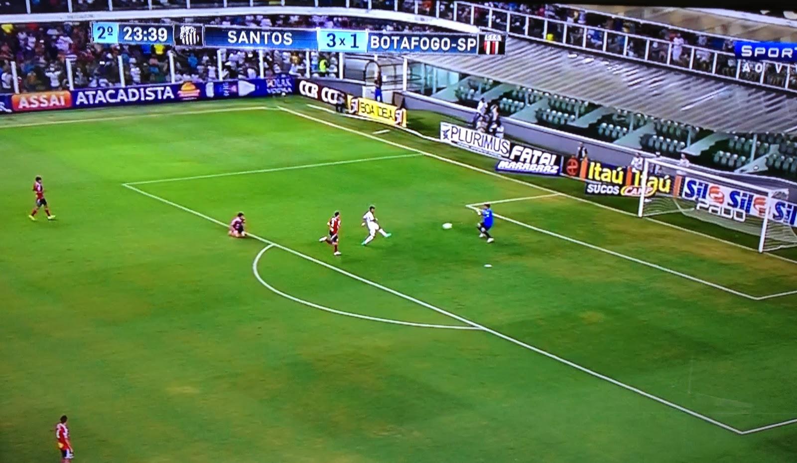 Gol 12 mil do Santos - Gabigol