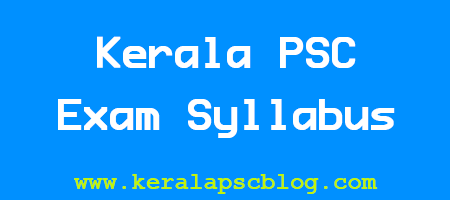 Kerala PSC Electronics Instructor Grade 1 Exam Syllabus