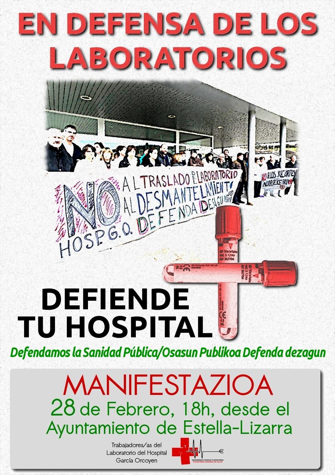 Manifestación en Defensa de los Laboratorios