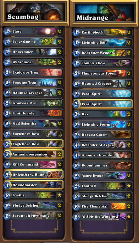 trump how to get legend hearthstone