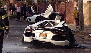 Lamborghini Aventador incidente