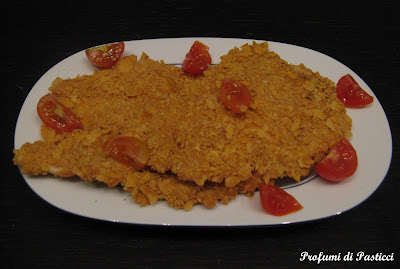 scaloppe di pollo impanate ai cornflakes