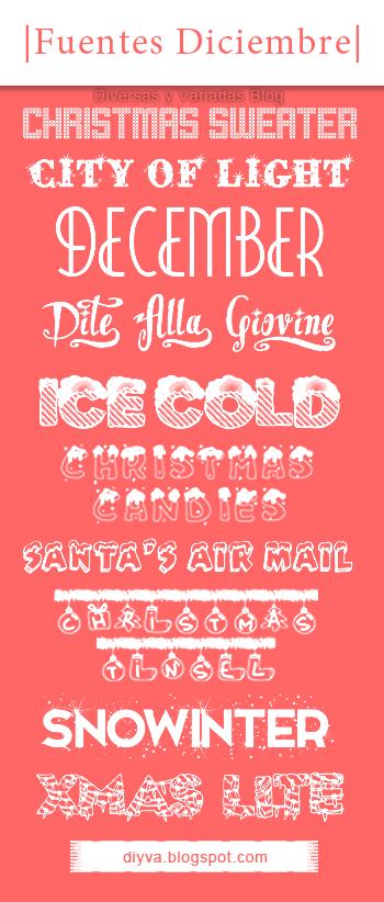 December Fonts