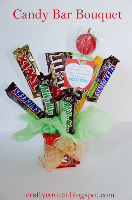 craftyc0rn3r candy bar bouquet
