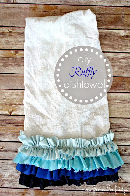 DIY Ruffle Dishtowel sewing