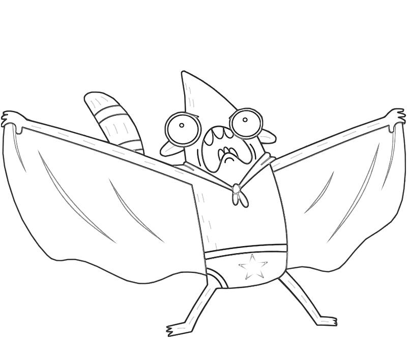 printable-rigby-superhero-coloring-pages