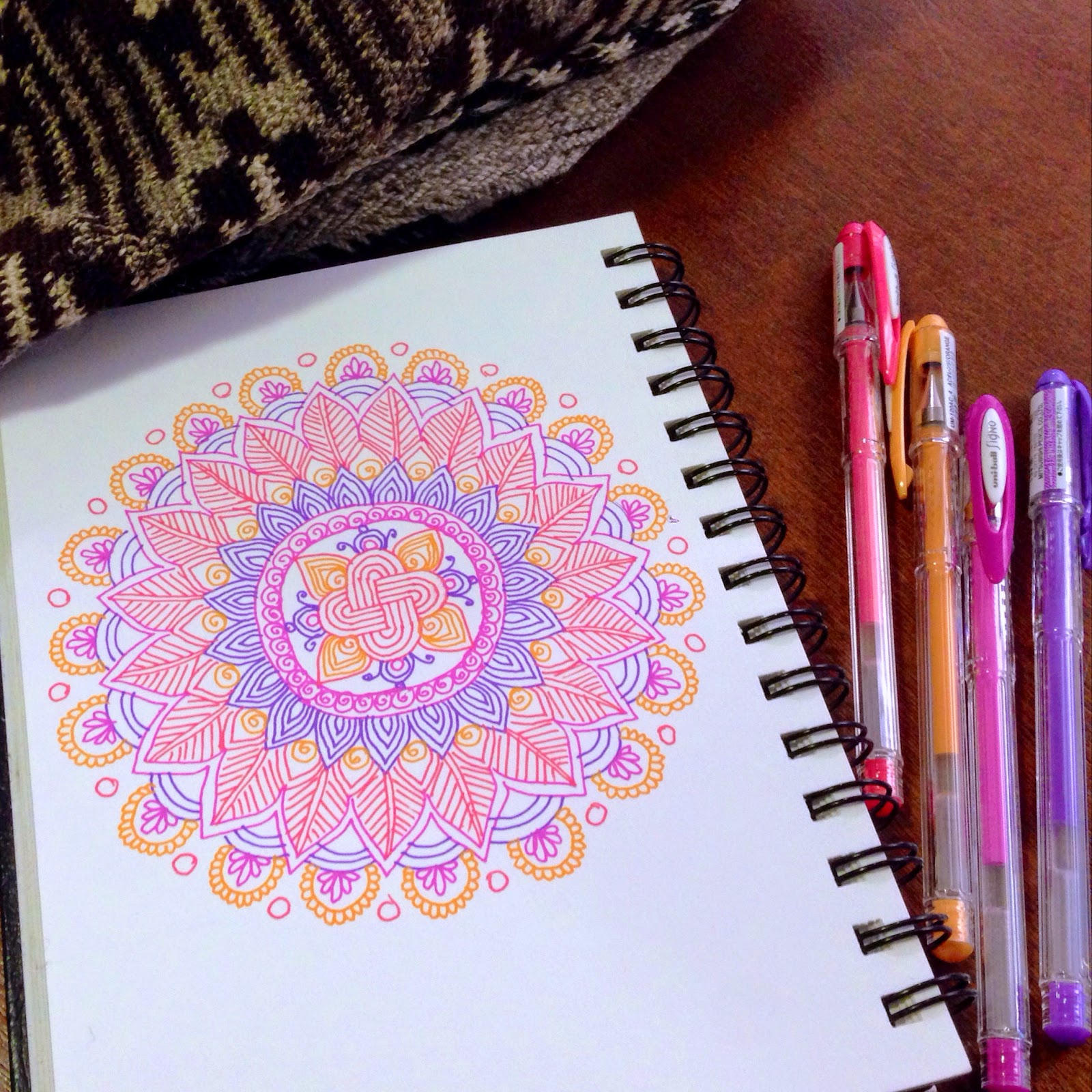 colored mandala on paper