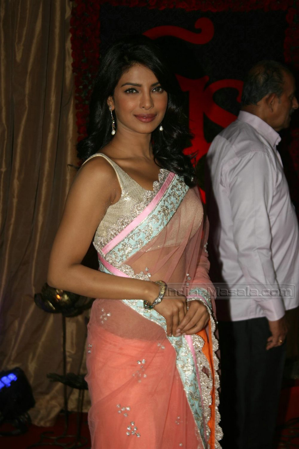 bollywood beautiful diva priyanka chopra looks hot in saree hot girls of bollywoods