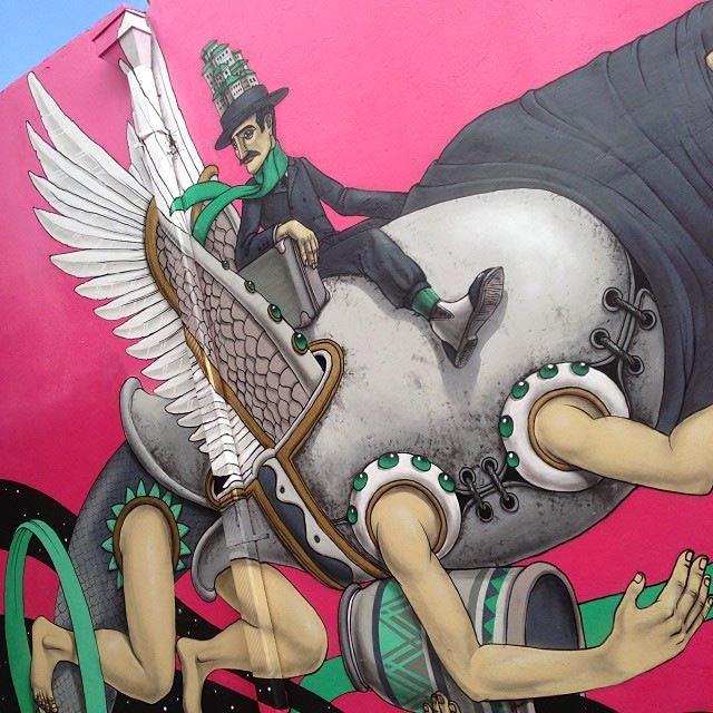 Street Art By Ukrainian Urban Artist Kislow For Art Basel Miami 2013 in Florida. 5