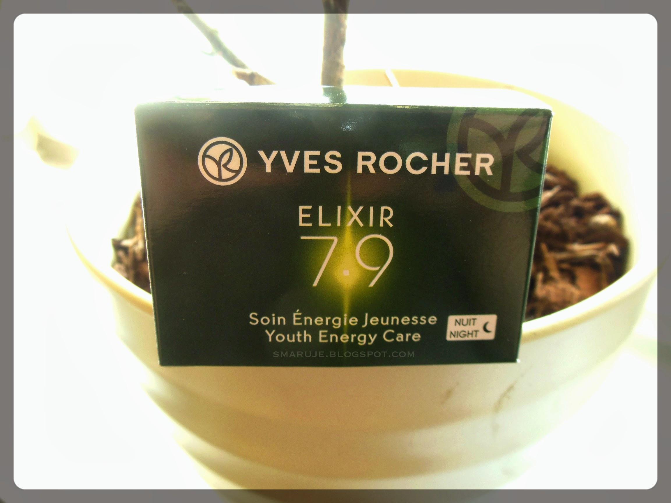 Yves Rocher –Elixir 7.9 – krem na noc [recenzja]