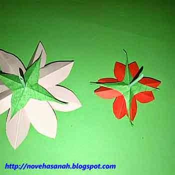 kelopak bunga dibuat dengan cara yang sama seperti saat membuat mahkota