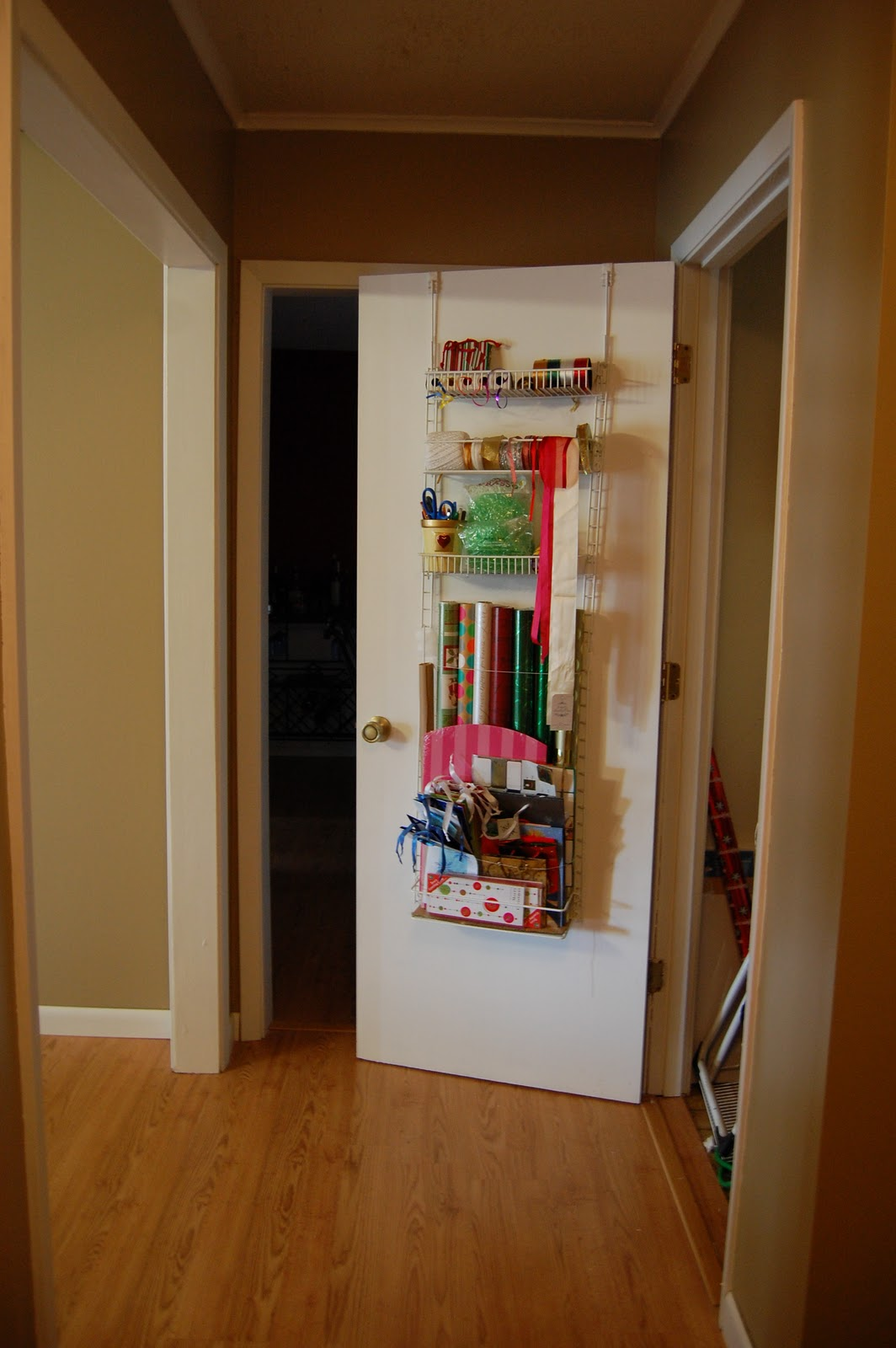 Spare time remodeling: gift wrap organization