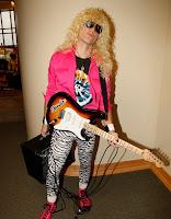 disfraz rockero de los 80