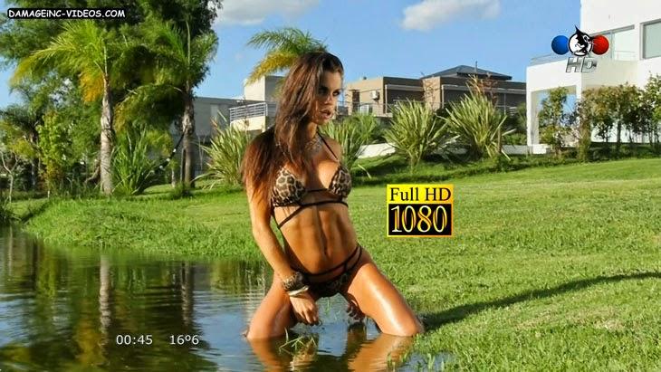 Argentina model wet body in bikini Full HD video