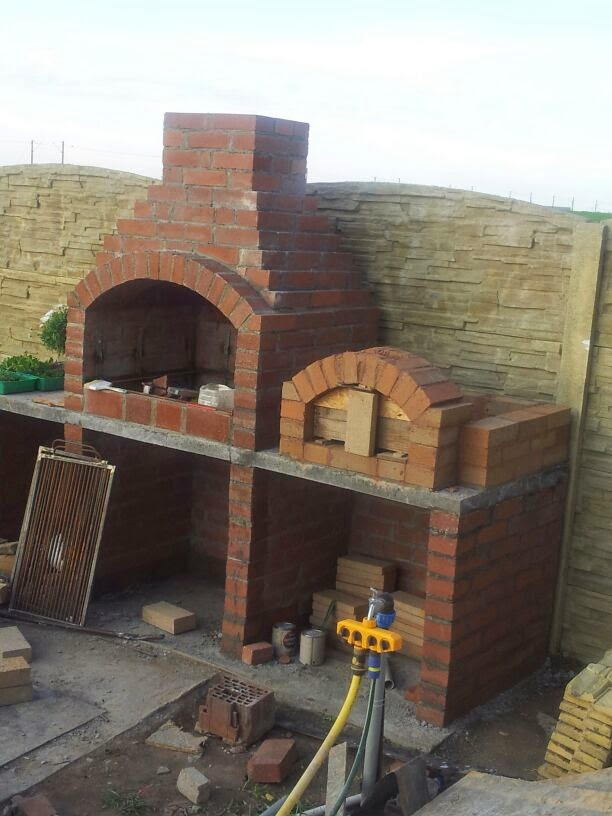 Diy Pizza Oven And Barbeque Area Knitwear And Crafts In