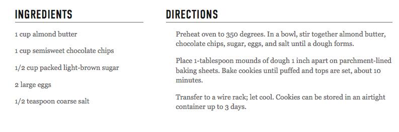 http://www.marthastewart.com/1104488/five-ingredient-chocolate-chip-cookies