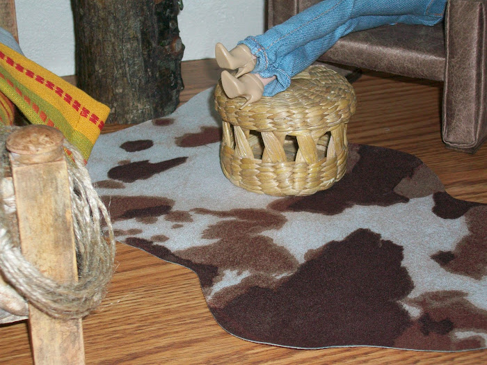 Cowhide rug...sort of.