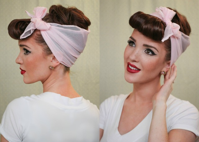 The Freckled Fox Modern Pin Up Week 4 Easy Faux Bangs