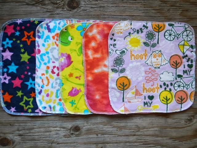 kids girls reusable cotton cloth lunch napkins