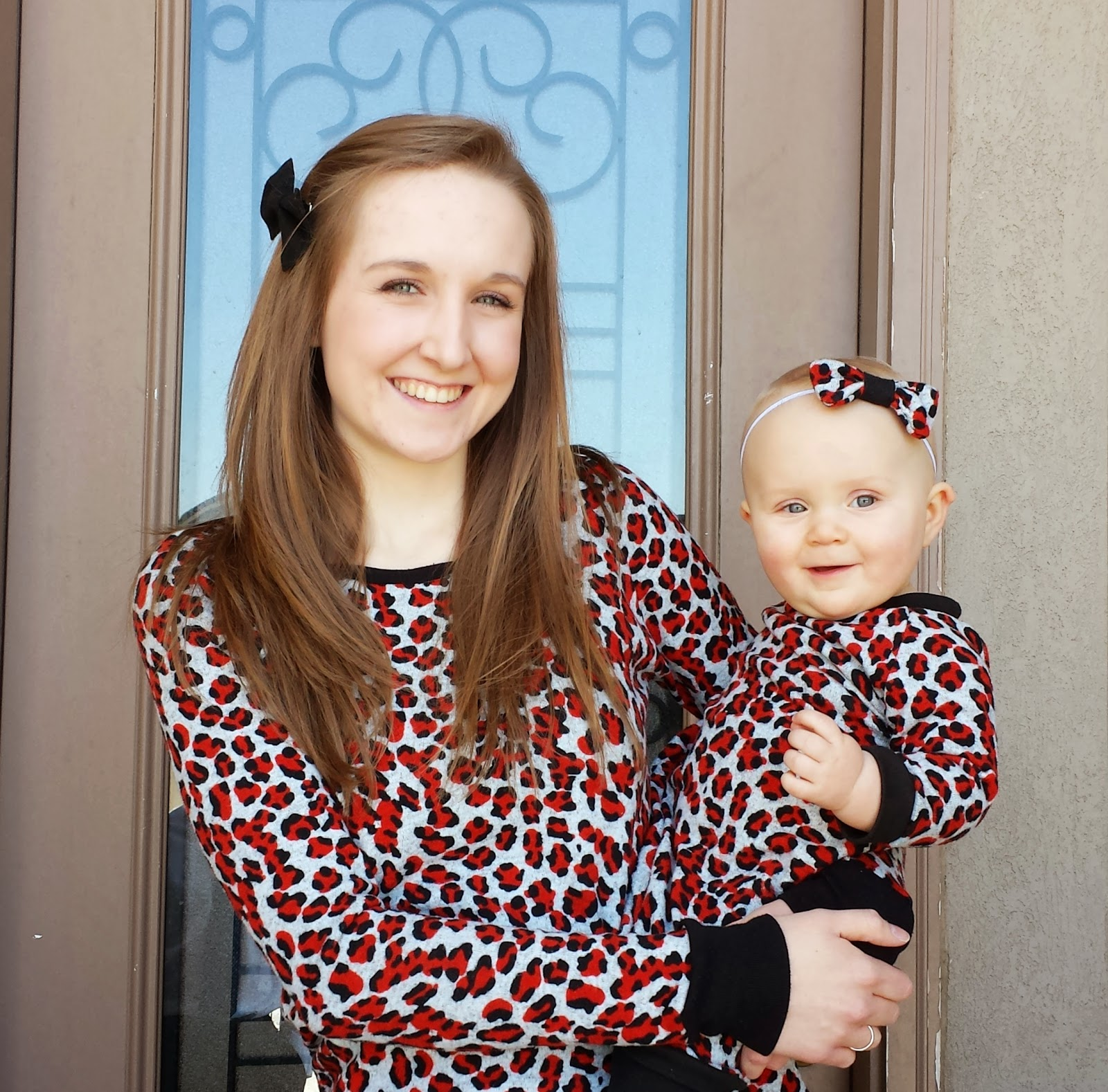 mommy and me matching shirts, matching shirts, mommy and baby, baby girl, leopard print shirts, diy shirts