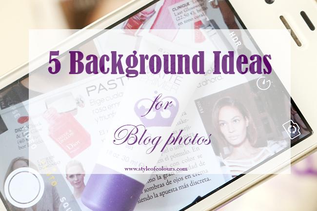 5 Background ideas for blog photos