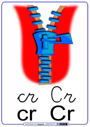 Fichas para trabajar las sílabas cr_