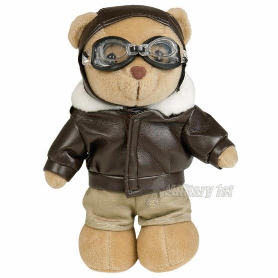 Gambar boneka teddy bear pilot