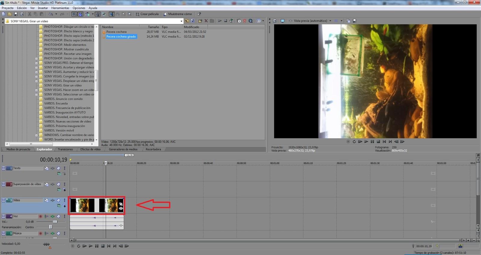 AYTUTO: Girar un vídeo con SONY VEGAS