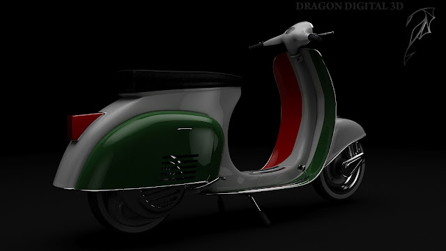 Tri-color Vespa