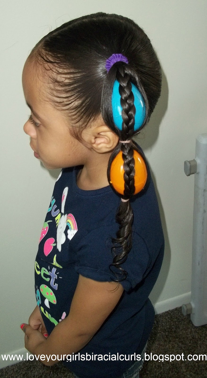 Love Your Girls Biracial Curls: Egg Tails Easter Hairstyle For Girls